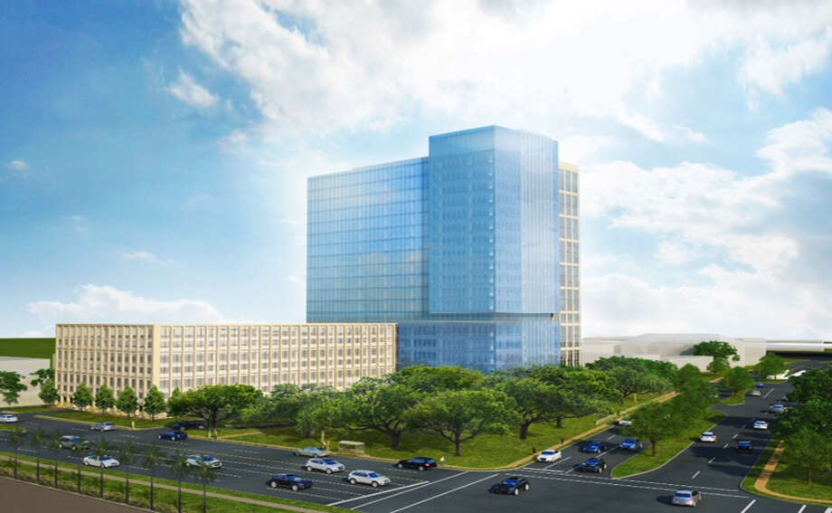 The first phase of the project will be an office tower. (PM Realty Group) Photo: PM Realty Group