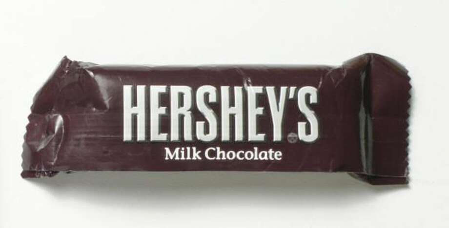 Hershey's Milk Chocolate came in at #2.