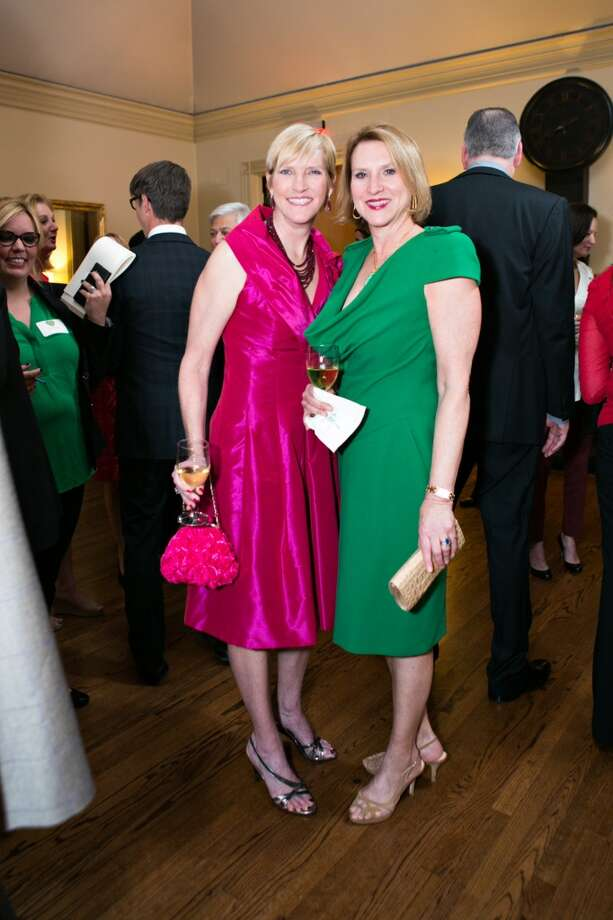 Next year's Memorial Park Conservancy gala co-chairs Tammy Jenkins, left, and Camille Patton Photo: Laurie Perez