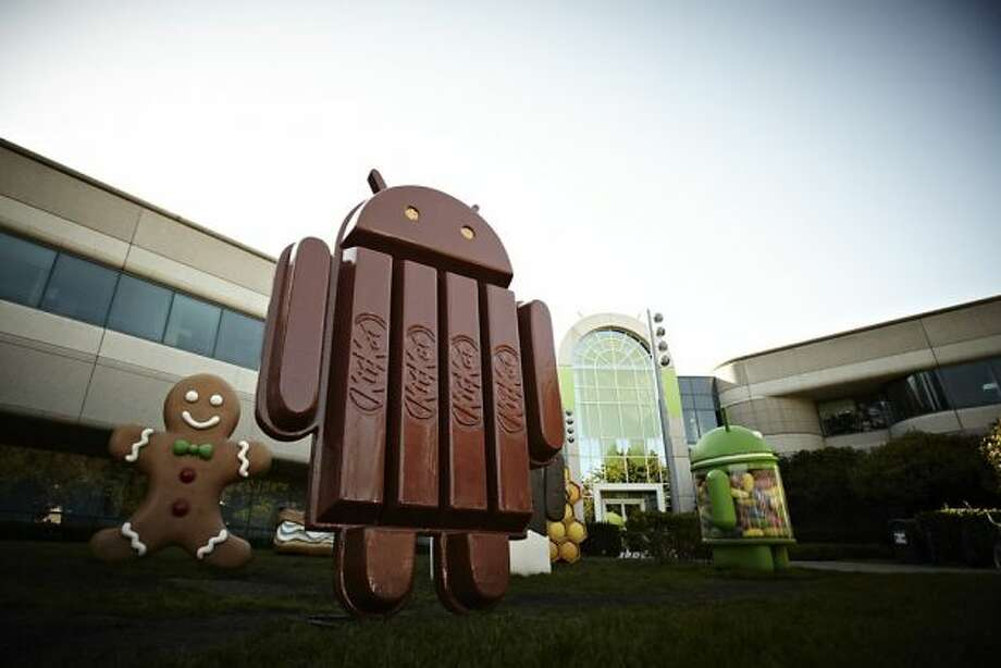 The new Kit Kat bar Android statue outside Google Inc. headquarters in Mountain (AP Photo/The Hershey Company). Photo: Uncredited, Associated Press
