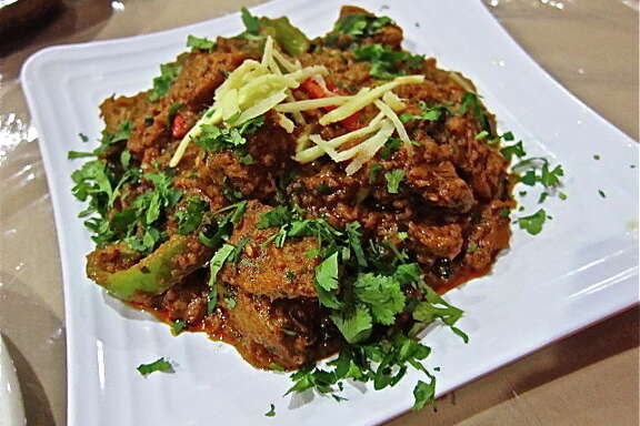 At Himalaya: Afghani lamb karhai with ginger and cilantro