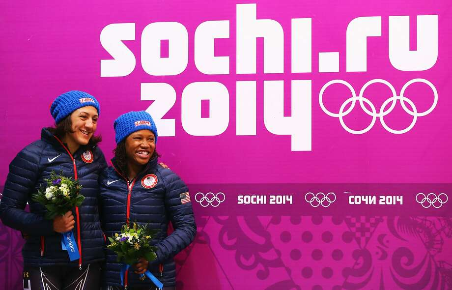 Elana Meyers, left, and Lauryn WilliamsMedal: SilverDiscipline: BobsledEvent: Women's 2-man bobsled Photo: Al Bello, Getty Images