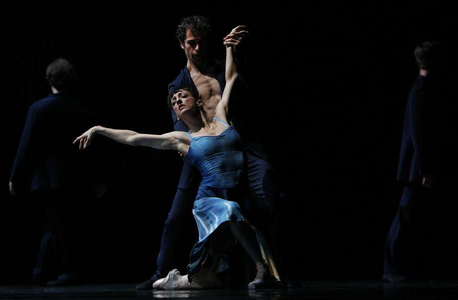 Lorena Feijoo and Vitor Luiz perform during the dress rehearsal of Tears as part of SF Ballet Programs 2 & 3 Feb. 18, 2014 at the San Francisco Ballet in downtown San Francisco, Calif. Photo: Leah Millis, The Chronicle