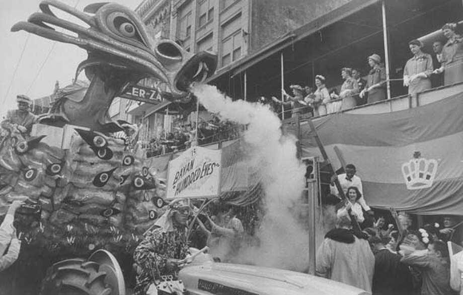 A view of the Mardi Gras parade in New Orleans, Louisiana in February 1959. Photo: Grey Villet, Time & Life Pictures/Getty Image / Time Life Pictures
