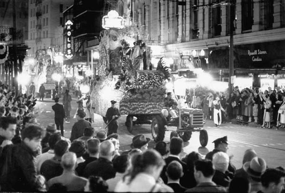A view of the Mardi Gras Parade in New Orleans, Louisiana in February 1961. Photo: Robert W. Kelley, Time & Life Pictures/Getty Image / Time Life Pictures