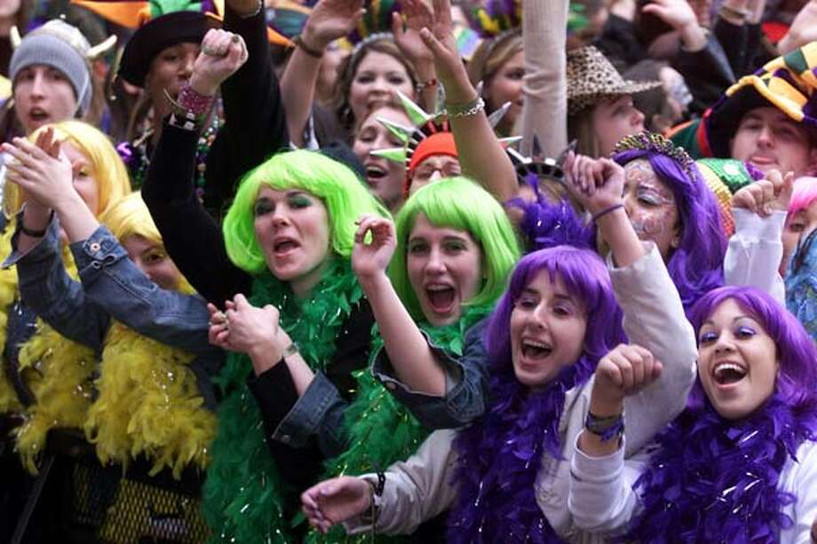 The audience at the MTV Mardi Gras 2002 celebration in New Orleans, Louisiana on February 5, 2002. Photo: Frank Micelotta, Getty Images / Getty Images North America