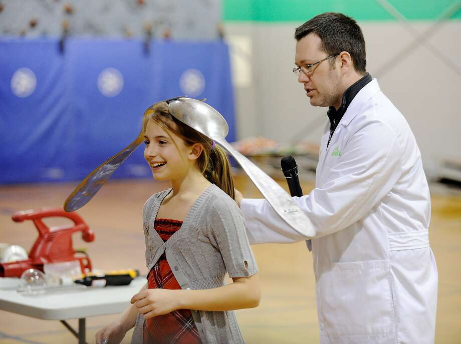 Magnetic personality? Actually, Jason Lindsey, a.k.a. Mr. Science, is simply illustrating the physics of inertia by 