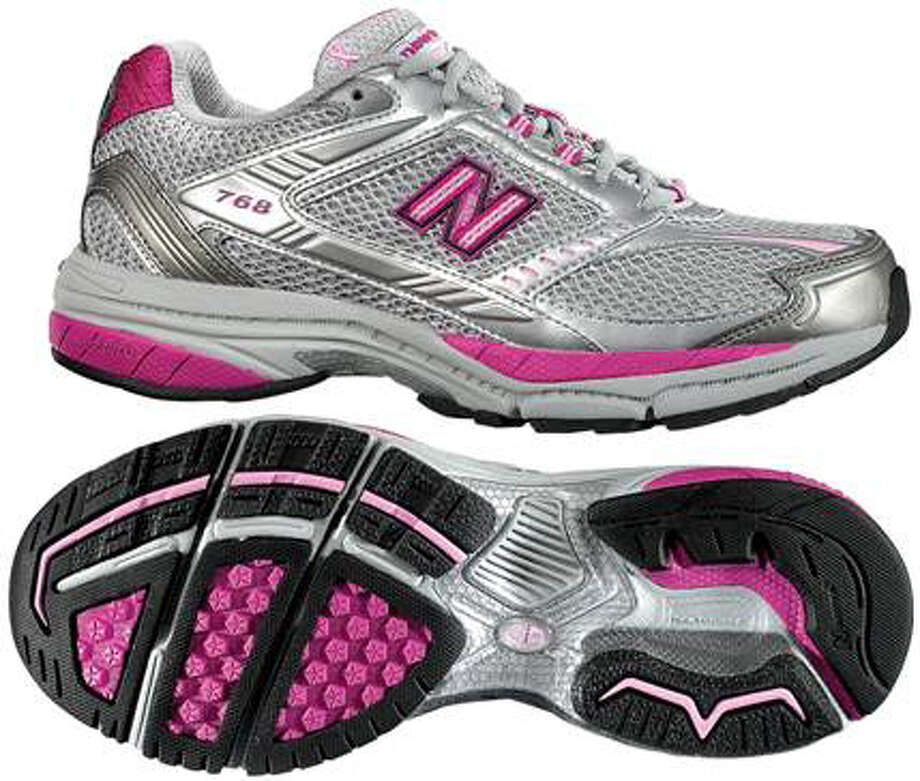 New Balance's pink ribbon shoe will help raise money for breast cancer research. It sells fro $100.  BREAST CANCER AWARENESS / handout email