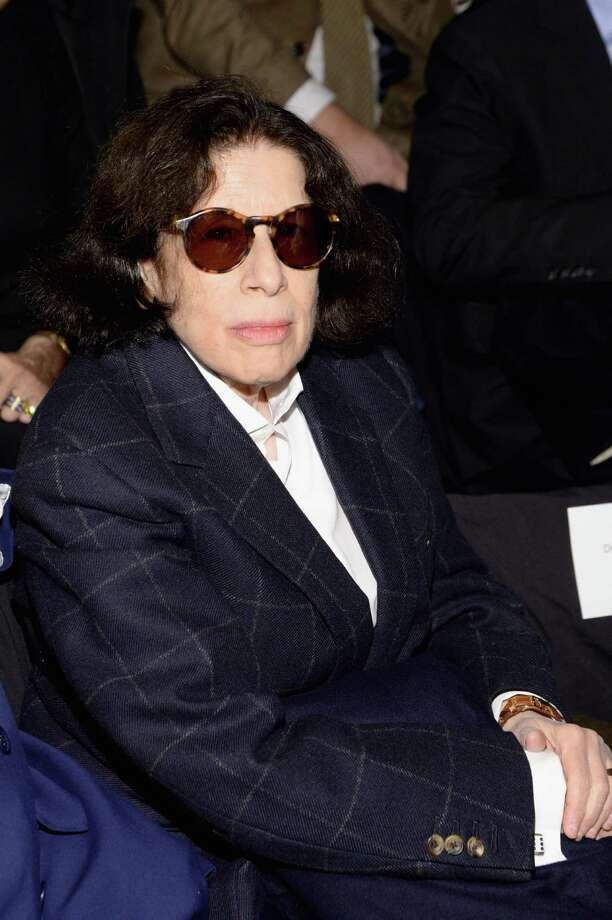 Fran Lebowitz  attends the Carolina Herrera fashion show during Mercedes-Benz Fashion Week Fall 2014 at The Theatre at Lincoln Center on Feb. 10, 2014 in New York City. She will be at the Ridgefield Playhouse in Ridgefield, Conn., on Saturday, Feb. 22, 2014. Call 203-438-5795 or visit ridgefieldplayhouse.org. (Photo by Larry Busacca/Getty Images for Mercedes-Benz Fashion Week) Photo: Larry Busacca, (Credit Too Long, See Caption) / 2014 Getty Images