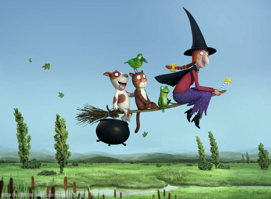 "A scene from the animated short ""Room on a Broom"" is seen here. Photo: Contributed Photo / The News-Times Contributed"