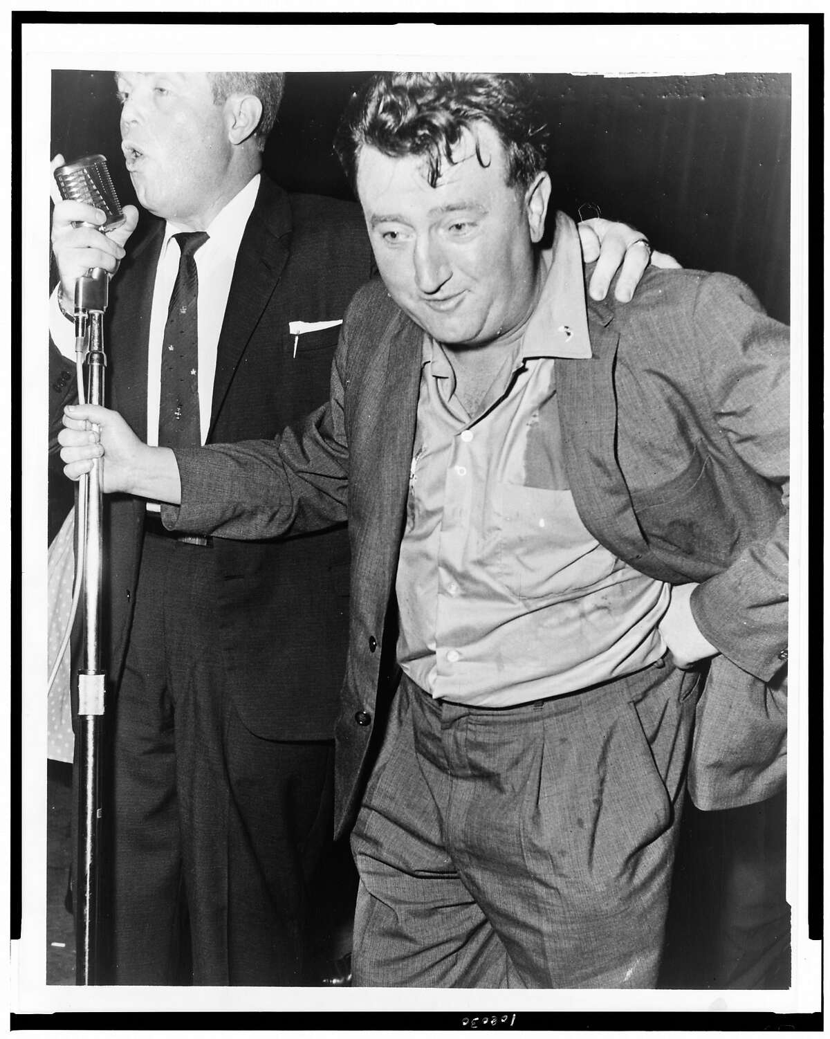 """Irish playwright and storyteller Brendan Behan visited San Francisco in 1961 when """"The Hostage"""" played at the Geary Theater."""