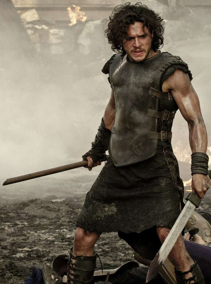 "Kit Harington is Milo the gladiator in ""Pompeii."" Photo: Impact Pictures / ©2014 Constantin Film International GmbH and Impact Pictures (Pompeii) Inc. All rights reserved."