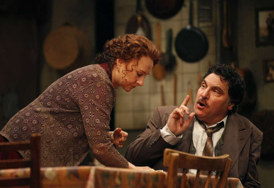 Seana McKenna and Marco Barricelli play a husband and wife trying to make ends meet and feed their family in the Italian wartime comedy. Photo: Leah Millis, The Chronicle