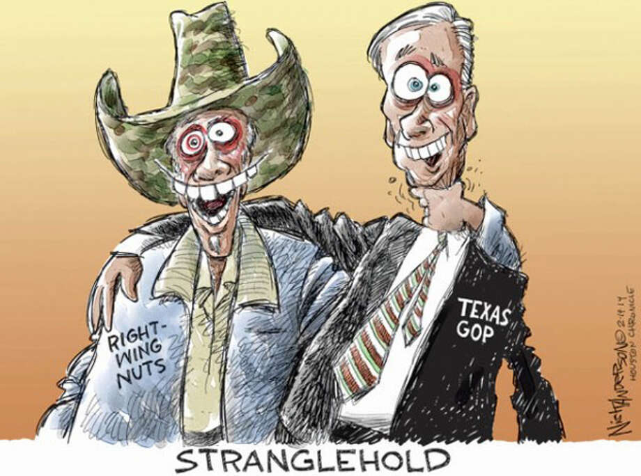While Texas Republicans like to appear arm-in-arm with far right-wing celebrities like Ted Nugent, the association may put off some voters and ultimately hurt the party. Photo: Nick Anderson, Houston Chronicle