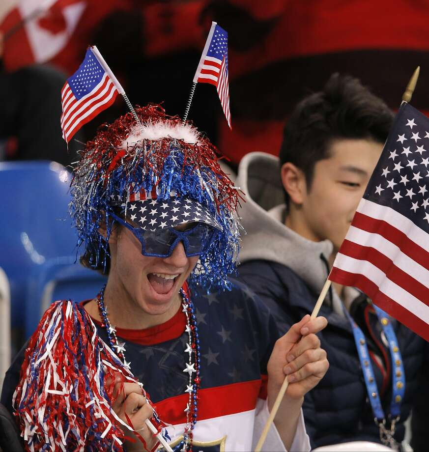 Jason Brown of the United States watches the women's short program figure skating competition at the Iceberg Skating Palace during the 2014 Winter Olympics, Wednesday, Feb. 19, 2014, in Sochi, Russia. (AP Photo/Vadim Ghirda) Photo: Vadim Ghirda, Associated Press