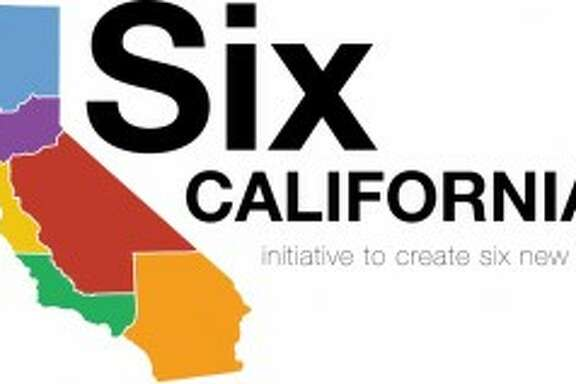 The campaign for Six Californias calls for dividing the state six ways.   Blue:  Jefferson    Purple:  Northern California   Gold:  Silicon Valley   Red:  Central California    Green:  West California    Orange:  Southern California
