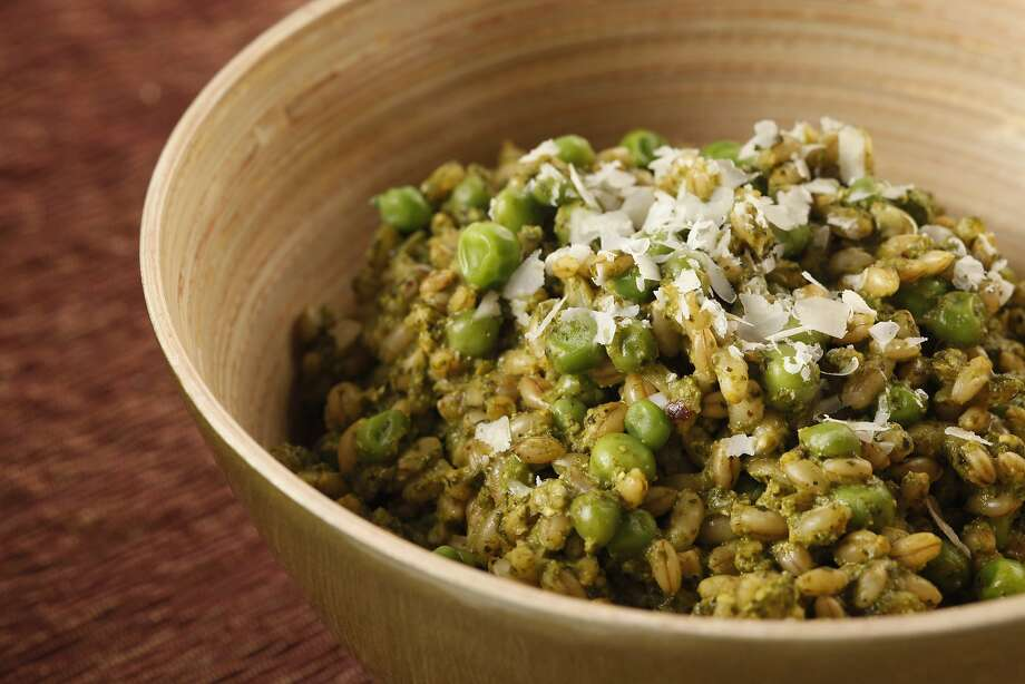 Barley With Green Garlic-Kale Pesto Photo: Craig Lee, Special To The Chronicle