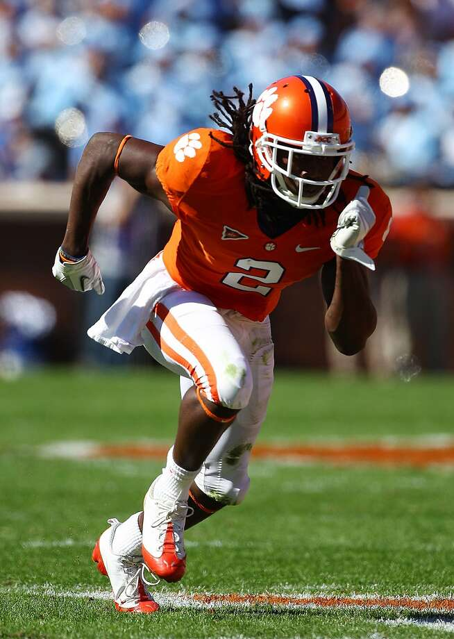 CLEMSON, SC - OCTOBER 22:  Sammy Watkins #2 of the Clemson Tigers runs upfield against the North Carolina Tar Heels during their game at Memorial Stadium on October 22, 2011 in Clemson, South Carolina.  (Photo by Scott Halleran/Getty Images) Photo: Scott Halleran, Getty