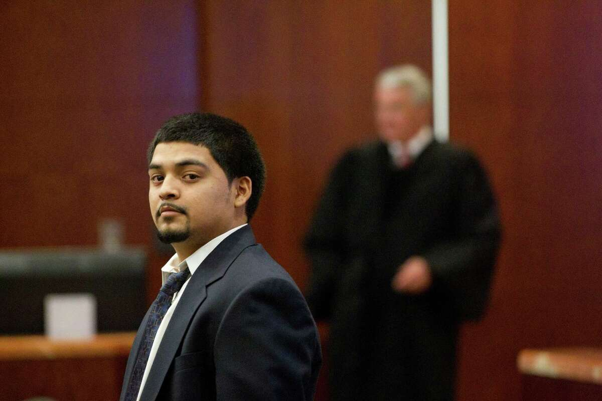 Gomez is shown in court on Feb. 12. Prosecutors said he escaped the chaotic gunbattle that ended with the death of DEA informant Lawrence Chapa.