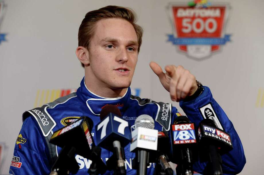 DAYTONA BEACH, FL - FEBRUARY 13:  NASCAR Sprint Cup Series driver Parker Kligerman speaks to the media during the 2014 NASCAR Media Day at Daytona International Speedway on February 13, 2014 in Daytona Beach, Florida.  (Photo by Robert Laberge/Getty Images) ORG XMIT: 469262647 Photo: Robert Laberge / 2014 Getty Images
