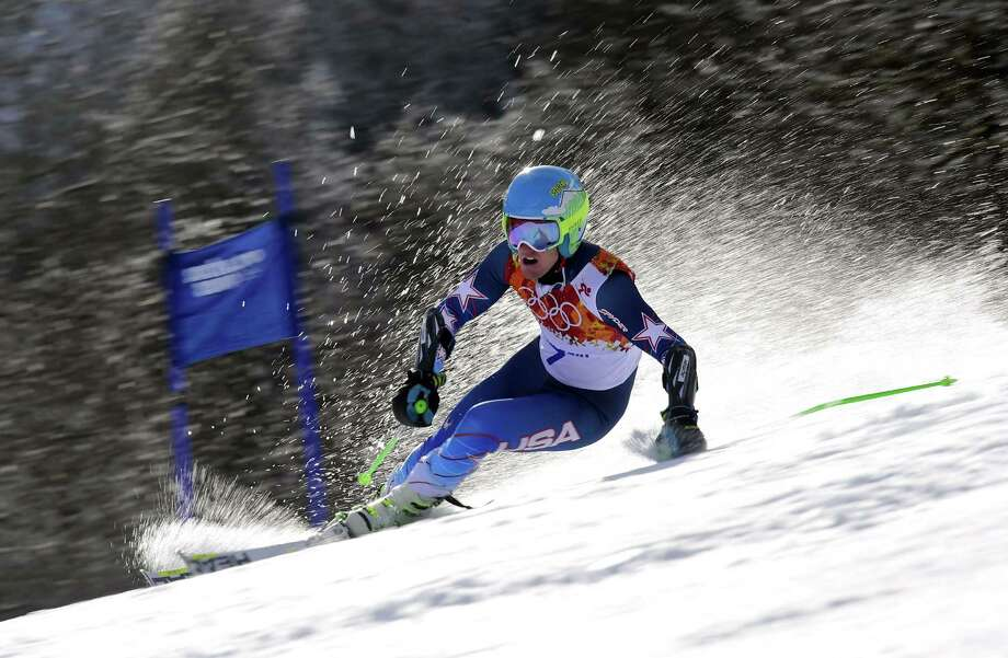 TOPSHOTS US skier Ted Ligety competes during the Men's Alpine Skiing Giant Slalom Run 1 at the Rosa Khutor Alpine Center during the Sochi Winter Olympics on February 19, 2014. AFP PHOTO / FABRICE COFFRINIFABRICE COFFRINI/AFP/Getty Images ORG XMIT: 461593501 Photo: FABRICE COFFRINI / AFP