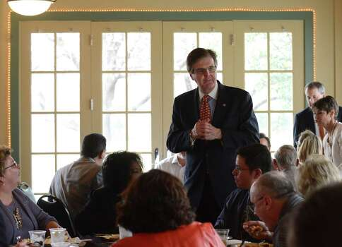 Dan Patrick, GOP candidate for lieutenant governor, makes a rare campaign appearance in San Antonio, speaking to a luncheon of the San Antonio Christian Business Chamber of Commerce, which is meeting at the Silverhorn Golf Club. Also speaking is another tea party favorite, state Sen. Donna Campbell. Photo: San Antonio Express-News / San Antonio Express-News