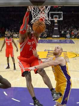 Feb. 19: Rockets 134, Lakers 108  Dwight Howard had his way with the short-handed Lakers in his return to Los Angeles.  Record: 37-17 Photo: Mark J. Terrill, Associated Press