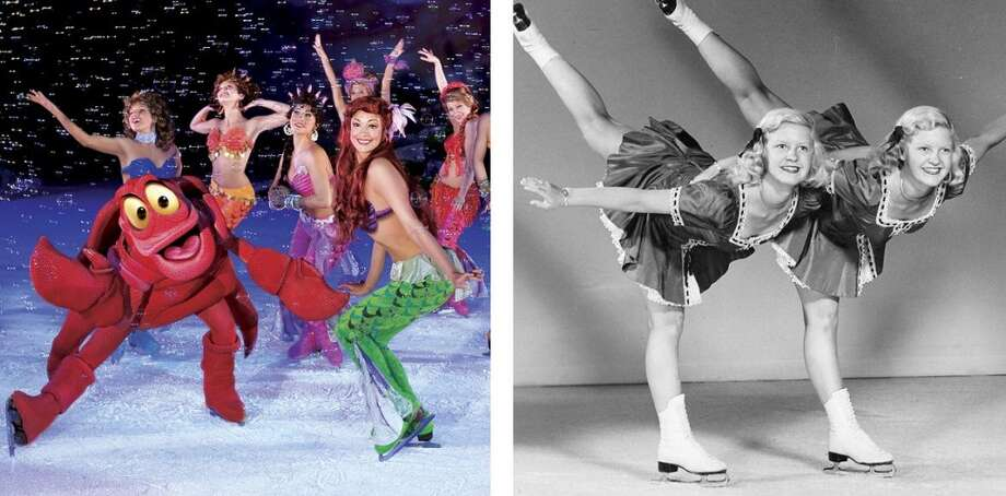 "Now and then: The 98-year history of ice shows in the Bay Area includes skating crabs and (apparently) the two girls from ""The Shining."" Why has this odd form of entertainment endured? Let's take a look ... Photo: Courtesy Feld Entertainment/Chronicle File"