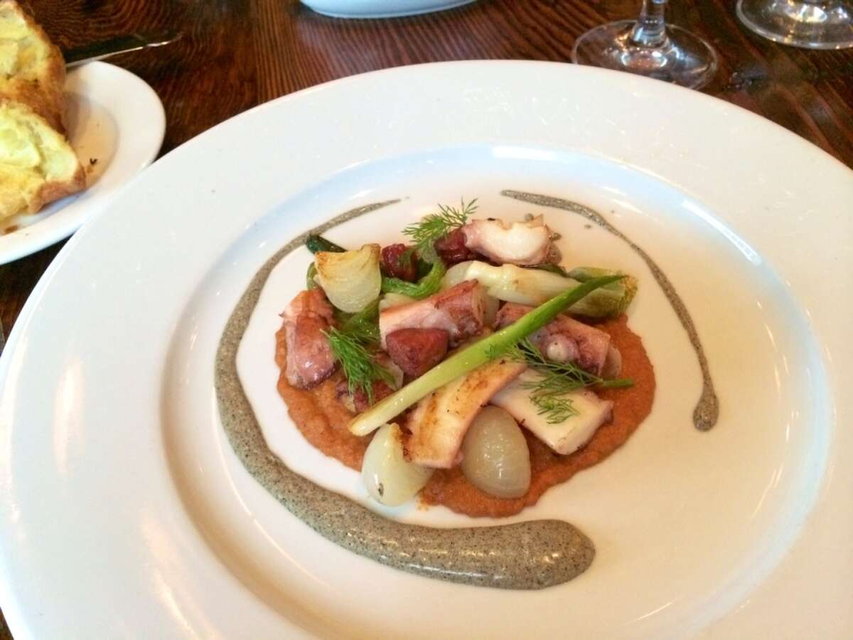 Lunch: Grilled octopus salad with linguica and charred scallions ($15)