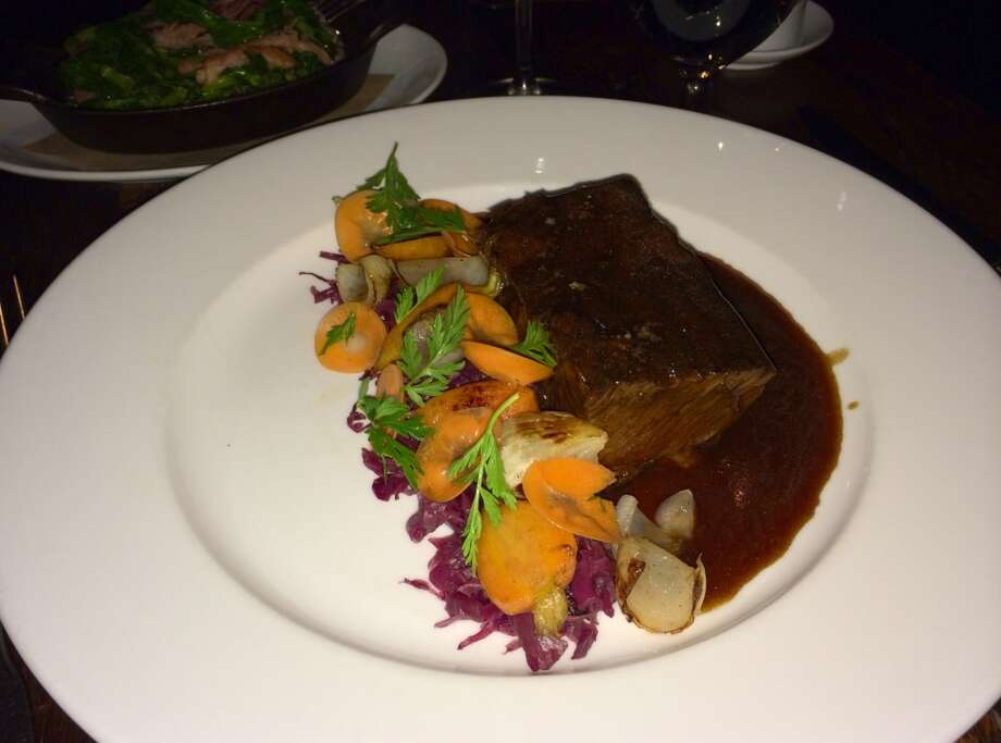 Braised short ribs with cabbage and carrots ($28)