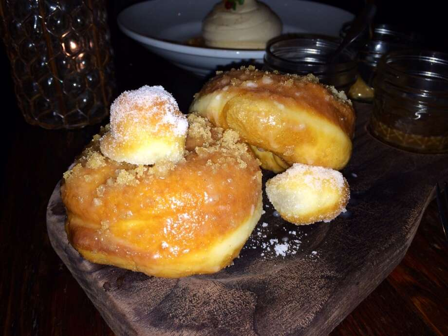 Doughnuts served with three sauces ($10)
