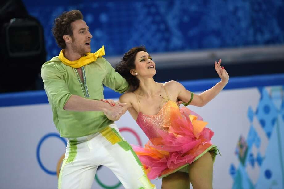 "BEST: French ice dancers Nathalie Pechalat and Fabian Bourzat performed to  ""The Little Prince and his Rose"" on Feb. 17, and  they looked as poetic as the watercolor illustrations in Saint-Exupery's tale. Photo: DAMIEN MEYER, AFP/Getty Images"