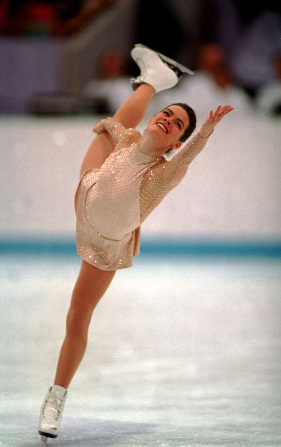 BEST: Nancy Kerrigan's Vera Wang skating dress in Lillehammer's 1994 Olympics set a new standard for elegance. Photo: Clive Brunskill, Getty Images
