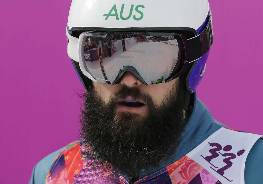 Australia's Anton Grimus waits after his seeding run in the men's ski cross at the Rosa Khutor Extreme Park, at the 2014 Winter Olympics, Thursday, Feb. 20, 2014, in Krasnaya Polyana, Russia.  Photo: Andy Wong, Associated Press