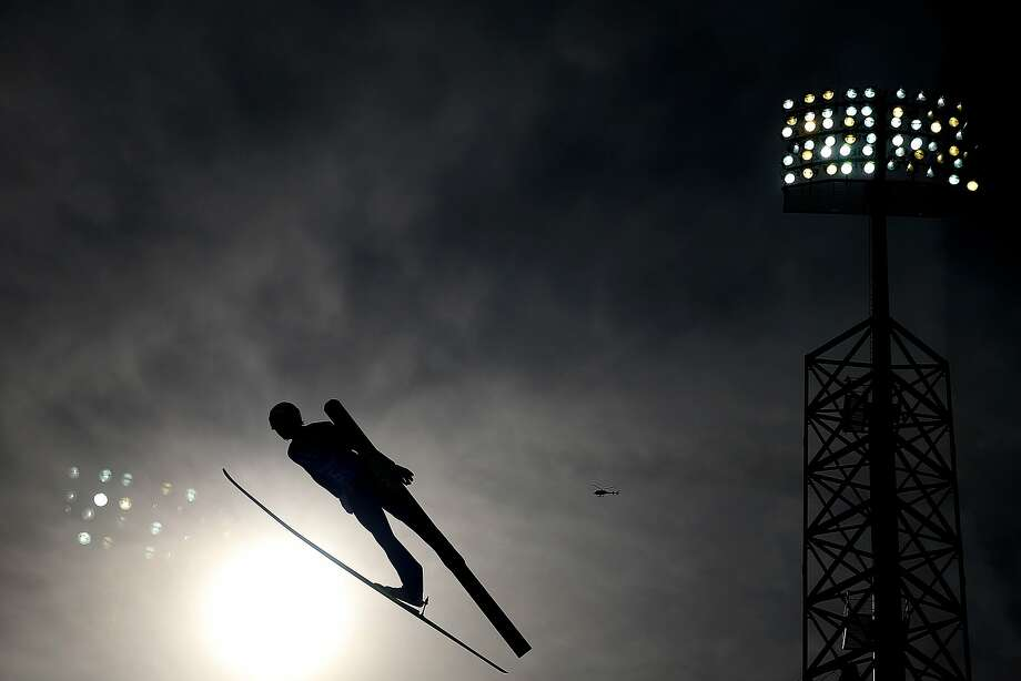 Yoshito Watabe of Japan competes in the Nordic Combined Men's Team LH during day 13 of the Sochi 2014 Winter Olympics at RusSki Gorki Jumping Center on February 20, 2014 in Sochi, Russia. Photo: Richard Heathcote, Getty Images