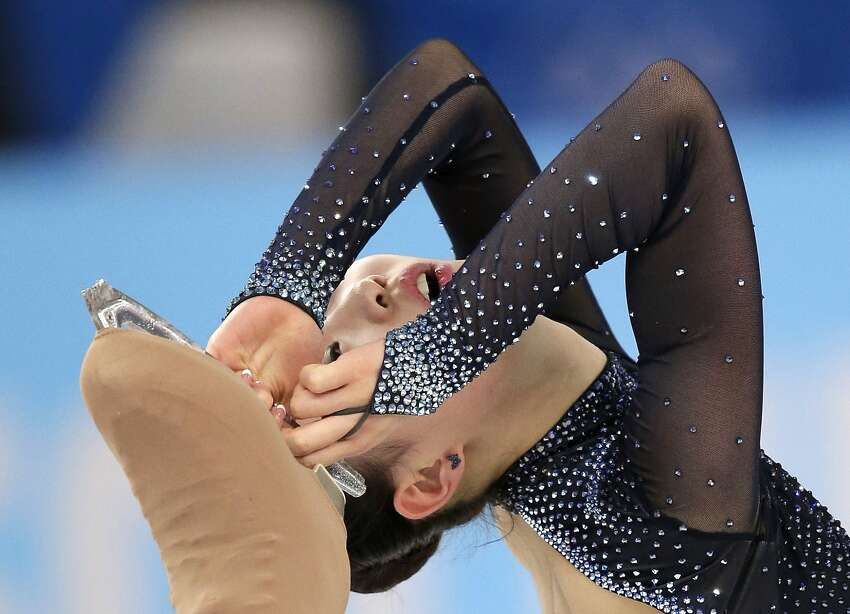 Park So-Youn of South Korea competes in the women's free skate figure skating finals at the Iceberg Skating Palace during the 2014 Winter Olympics, Thursday, Feb. 20, 2014, in Sochi, Russia.