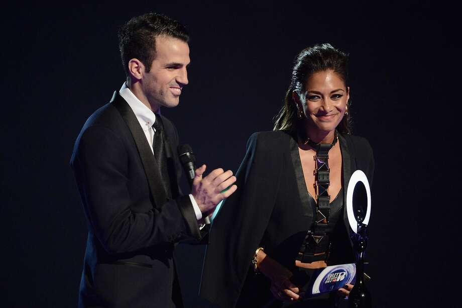 LONDON, ENGLAND - FEBRUARY 19:  Cesc Fabregas; Nicole Scherzinger presents the award for International Group at The BRIT Awards 2014 at 02 Arena on February 19, 2014 in London, England.  (Photo by Ian Gavan/Getty Images) Photo: Ian Gavan, Getty Images