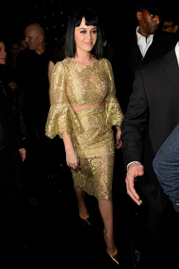 "LONDON, ENGLAND - FEBRUARY 19:  Katy Perry attends the Universal music afterparty for The BRIT Awards 2014 at Soho House ""Popup"" Bar on February 19, 2014 in London, England.  (Photo by Ben A. Pruchnie/Getty Images) Photo: Ben A. Pruchnie, Getty Images"