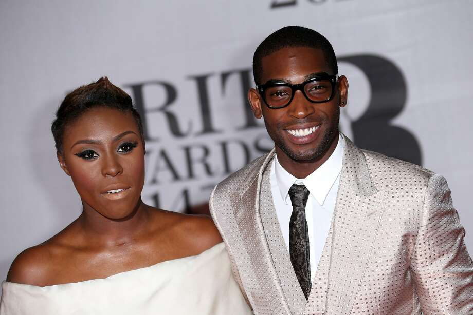 British artists Laura Mvula and Tinie Tempah arrive at the BRIT Awards 2014 at the O2 Arena in London on Wednesday, Feb. 19, 2014. (Photo by Joel Ryan/Invision/AP) Photo: Joel Ryan, Associated Press
