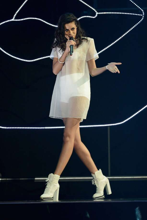 Aluna Francis sings at the 2014 Brit Awards in London. AlunaGeorge will be at the Mezzanine on Wednesday, Oct. 14. Photo: Ian Gavan, Getty Images