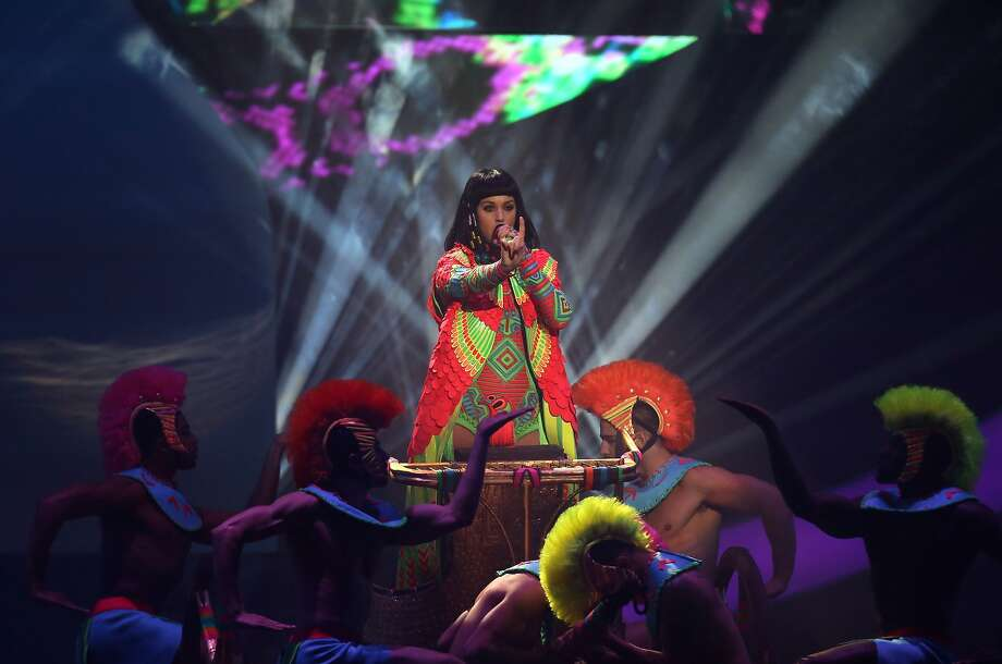 American singer-songwriter Katy Perry performs on stage at the BRIT Awards 2014 at the O2 Arena in London on Wednesday, Feb. 19, 2014. (Photo by Joel Ryan/Invision/AP) Photo: Joel Ryan, Associated Press
