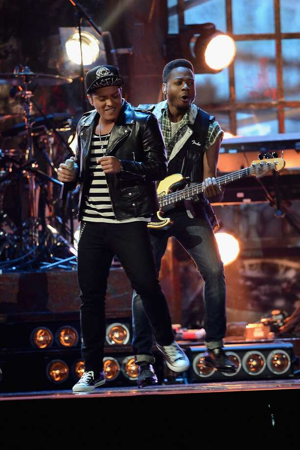 LONDON, ENGLAND - FEBRUARY 19:  Bruno Mars performs at The BRIT Awards 2014 at 02 Arena on February 19, 2014 in London, England.  (Photo by Ian Gavan/Getty Images) Photo: Ian Gavan, Getty Images