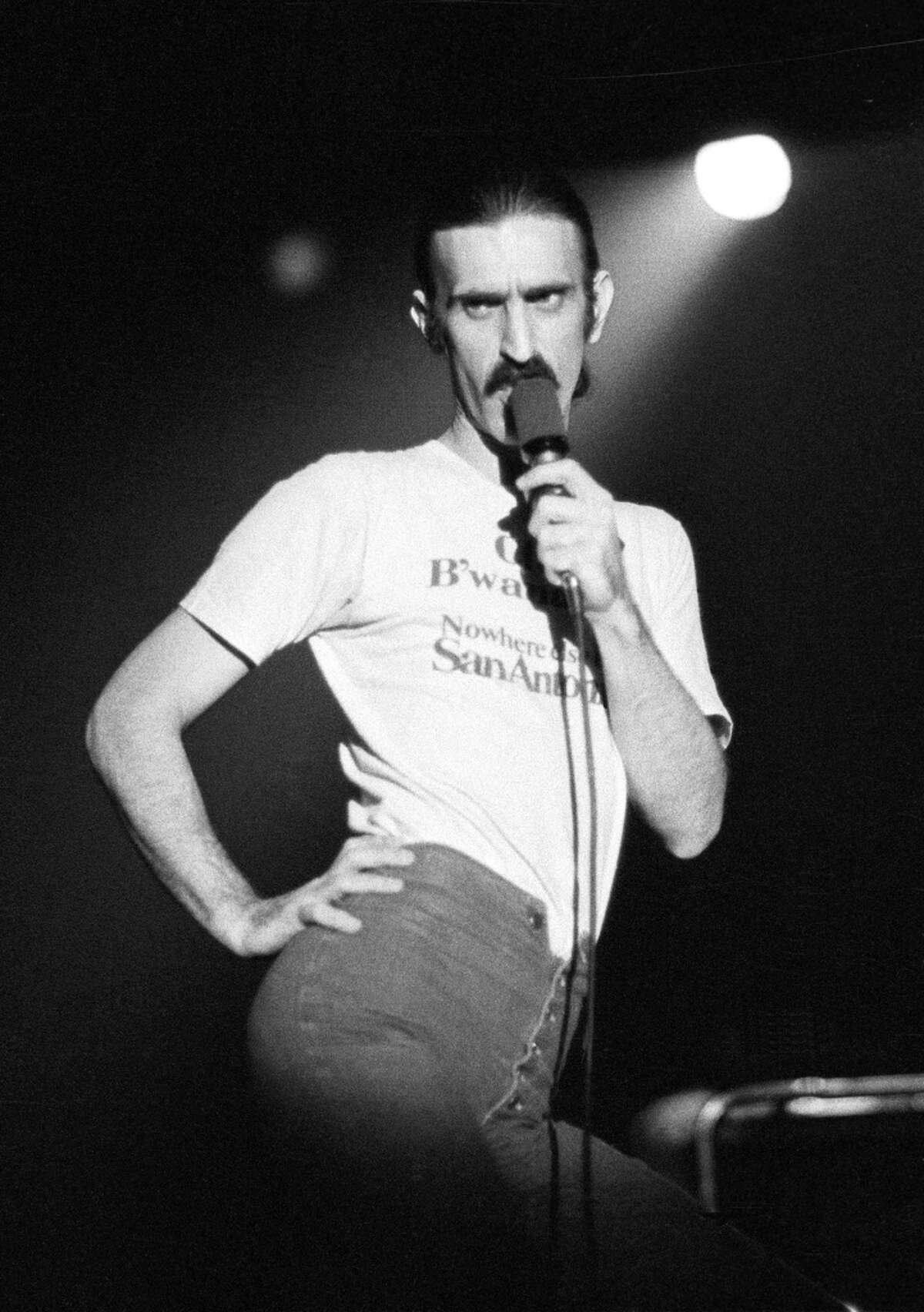 Frank Zappa, who died more than 25 years ago, will be present in holographic form in The Bizarre World of Frank Zappa, a concert tour scheduled to stop at the Palace Theatre in Albany on April 28, 2019.