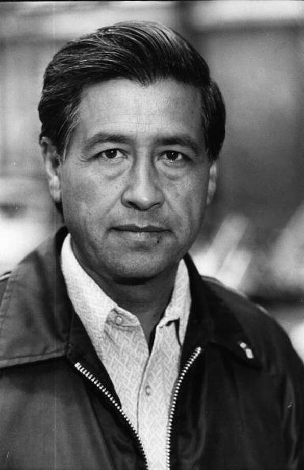 15th September 1974:  Leader of 200,000 American farmworkers, Cesar Chavez.  (Photo by Tim Graham/Evening Standard/Getty Images) Photo: Tim Graham, Getty Images / Hulton Archive