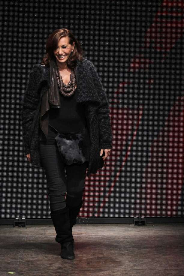 Donna Karan walks the runway at DKNY Women's during Mercedes-Benz Fashion Week Fall 2014 at 547 West 26th Street on February 9, 2014 in New York City.  (Photo by Edward James/Wir Photo: Edward James, WireImage