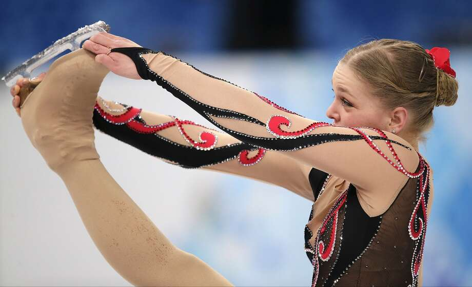 Nicole Rajicova of Slovakia competes in the women's free skate figure skating finals at the Iceberg Skating Palace during the 2014 Winter Olympics, Thursday, Feb. 20, 2014, in Sochi, Russia.  Photo: Bernat Armangue, Associated Press
