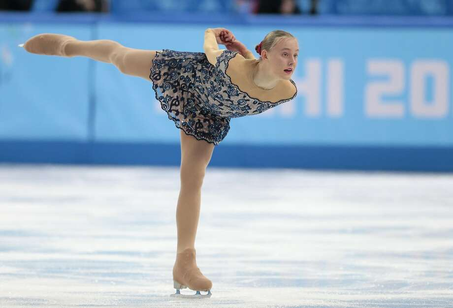 Elizaveta Ukolova of the Czech Republic competes in the women's free skate figure skating finals at the Iceberg Skating Palace during the 2014 Winter Olympics, Thursday, Feb. 20, 2014, in Sochi, Russia. Photo: Ivan Sekretarev, Associated Press