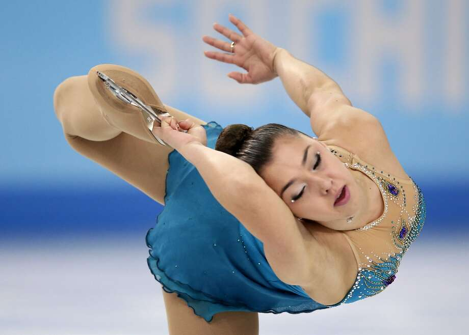 Gabrielle Daleman of Canada competes in the women's free skate figure skating finals at the Iceberg Skating Palace during the 2014 Winter Olympics, Thursday, Feb. 20, 2014, in Sochi, Russia.  Photo: Bernat Armangue, Associated Press