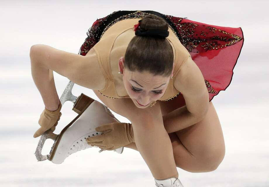 Elene Gedevanishvili of Georgia competes in the women's free skate figure skating finals at the Iceberg Skating Palace during the 2014 Winter Olympics, Thursday, Feb. 20, 2014, in Sochi, Russia. Photo: Bernat Armangue, Associated Press