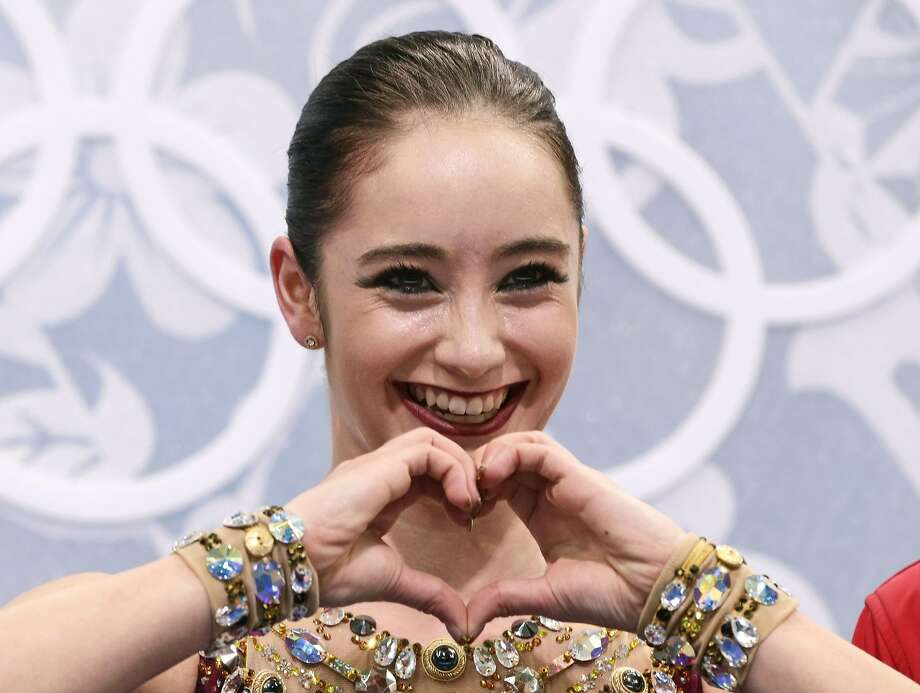 Kaetlyn Osmond of Canada gestures as she waits in the results area after completing her routine in the women's free skate figure skating finals at the Iceberg Skating Palace during the 2014 Winter Olympics, Thursday, Feb. 20, 2014, in Sochi, Russia.  Photo: Bernat Armangue, Associated Press